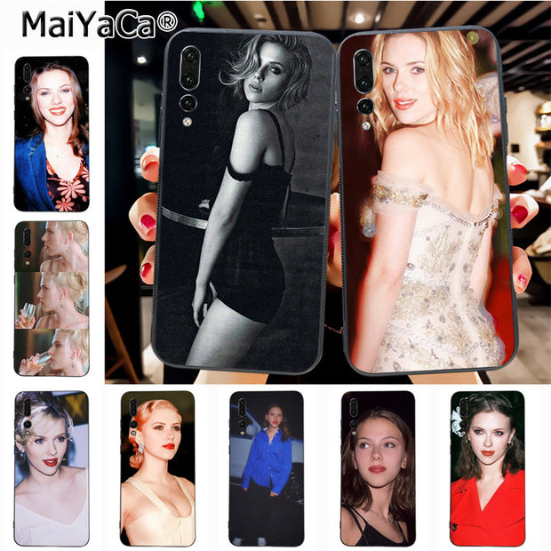 Maiyaca Scarlett Johansson Top Detailed Popular Case For Huawei P20 P20 Pro Mate10 P10 Plus Honor9 Cass