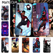 Maiyaca Spider Man Into The Spider Verse Diy Luxury High-end Protector Phone Case For Huawei Honor 9 Honor 10 P20 Case Coque