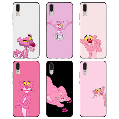 Pink Panther (Soft TPU Silicone Black Cases Cover For Huawei P8 P9 Lite 2017 P10 P20 Lite Mate 10 Lite P Smart