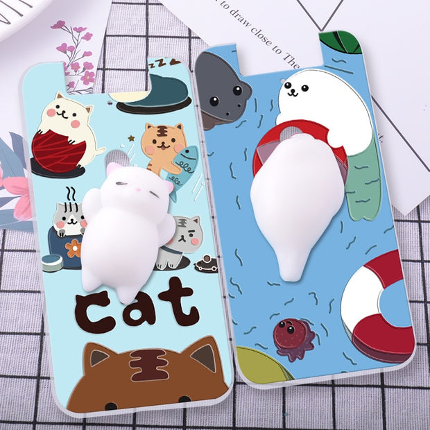 ShuiCaoRen Silicone Cases For OPPO N3 Case 3D Squishy Finger Pinch Cat Skin For OPPO N3 Cover