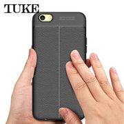 TUKE Phone Cases For Oppo F3 A77 Anti-shock Soft Silicone TPU Texture Case Shell Cover For Oppo F3 Case Coque