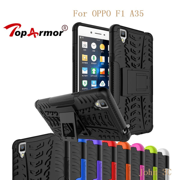 TopArmor Case For Oppo R9s Plus F3 Plus R9s R9 F1 Plus Cover Shockproof PC+TPU Shell For Oppo F1s A59 F1 A35 Back Case Coque