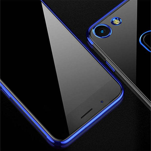 Transparent Plating Case For OPPO F5 Cases Ultra Thin Soft TPU Electroplate Shining Case For OPPO F5 F 5 Silicon Cover Coque