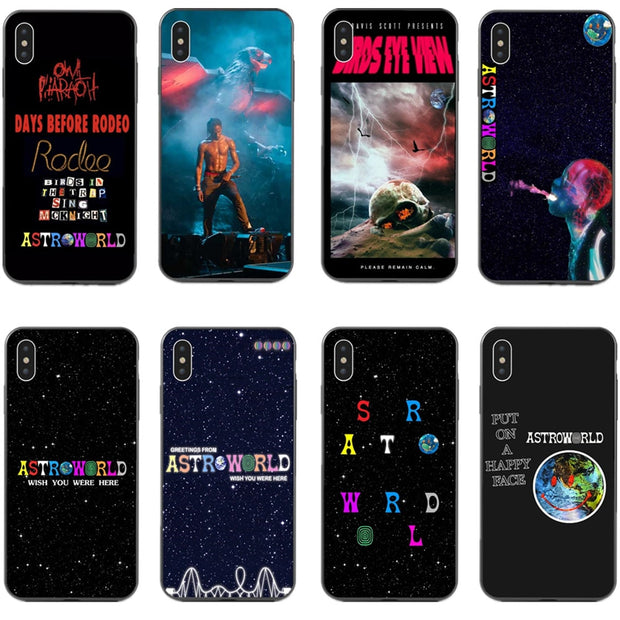 Travis Scott Phone Cases Astroworld Sicko Mode For IPhone X 5 5s SE 6 6S Plus 7 8Plus XS XR XS MAX Soft Silicone TPU Black Cover