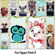 Walcox Patterned Soft Case For Oppo Find X Case Antil-knock Cover For Oppo Find X Silicone Bag Housing Find X