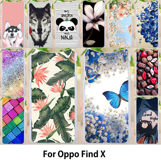 Walcox Patterned Soft Case For Oppo Find X Case Antil-knock Cover For Oppo Find X Silicone Find X Bag Housing