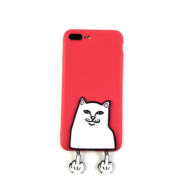 XINGYUANKE 3D Case For Xiaomi Mi Mix Case Cute Cartoon Middle Finger Cat Coque For Xiaomi Mix 2 2S Case Soft Silicone Cover