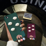 XINGYUANKE Cute Clouds Phone Case For OPPO A37 Case Luxury Car Pearl Pendant Coque For OPPO Neo 9 Candy Color Silicone TPU Cover
