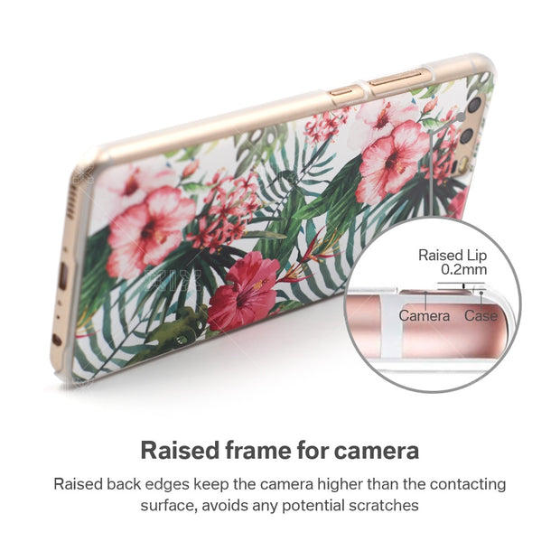 XIX Lifestyle For Huawei P9 Case Pink Flowers Soft Silicone TPU Cover For Fundas Huawei P9 New Arrivals For P9 Case