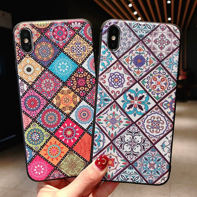 Xiaomi Mi 8 Case Xiaomi Mi 5X 6X Case Fashion Retro Pattern Soft Silicone TPU Relief Case For Xiaomi Mix 2 2S Mi5X Mi6X Mi8