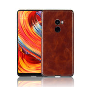 Xiaomi Mi Mix 2 Mix2 Silicone Case TPU+Leather Crazy Horse Silicon TPU Soft Back Cover Case For Xiaomi Mi Mix 2 Mix2 Soft Cover