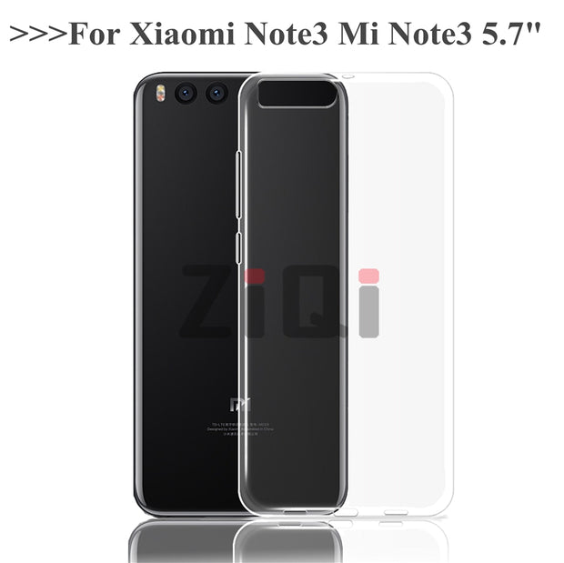 ZiQi Soft TPU Cover For Xiaomi Mi Note 3 Case Phone Case For Xiaomi Mi Note 3 Cover For Xiaomi RedMi Note3 Case Funda