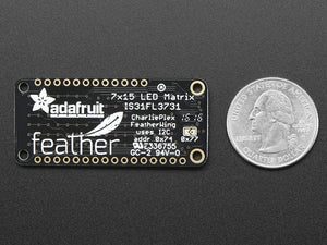 Adafruit 15x7 CharliePlex LED Matrix Display FeatherWing - White - Chicago Electronic Distributors  - 4
