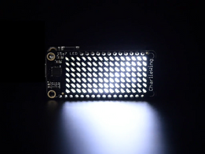 Adafruit 15x7 CharliePlex LED Matrix Display FeatherWing - White - Chicago Electronic Distributors  - 1