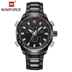 Naviforce Luxury Sport Dual Display LED Quartz - Diamond Wrist