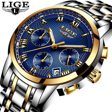Lige Luxury Quartz - Diamond Wrist