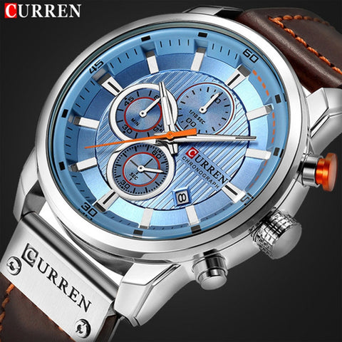 Curren Blue Chronograph - Diamond Wrist