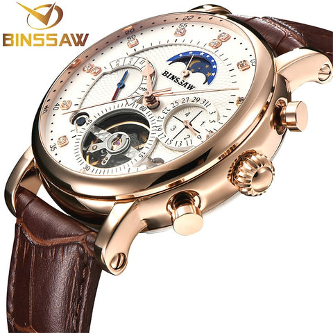 Binssaw Men Mechanical Watch - Diamond Wrist