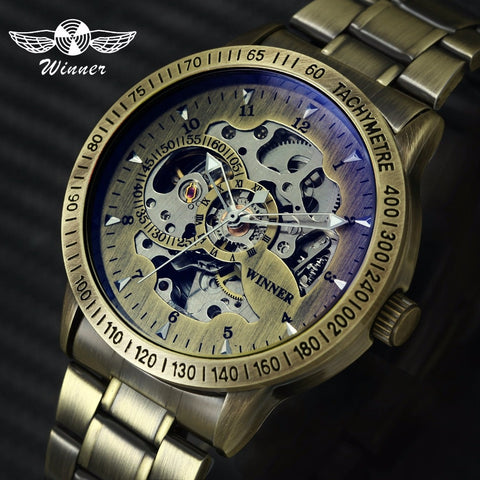 Winner Mechanical Skeleton - Diamond Wrist