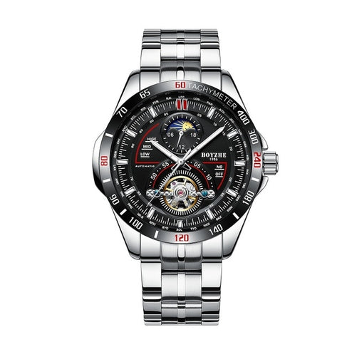 Boyzhe Mens Mechanical - Diamond Wrist