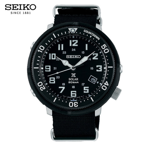 Seiko Prospex Series Solar Canvas Quartz - Diamond Wrist