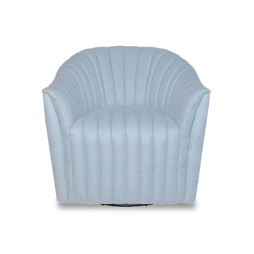 modern channel tuftet bucket swivel chair