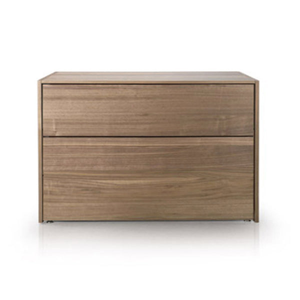 modern custom order oak veneer night stand with metal top