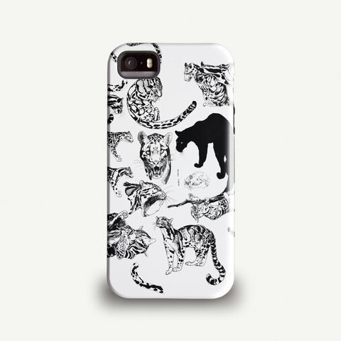 "Mina Milk ""Clouded Leopard Collage"" Phone case"
