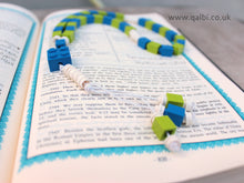 Load image into Gallery viewer, Lego Tasbih Tasbeeh Islamic Prayer Beads for Muslim Kids in Blue and Green