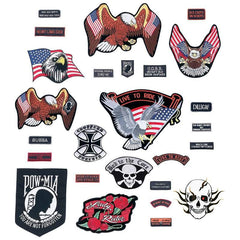 Live To Ride 26pc Embroidered Motorcycle Patch Set