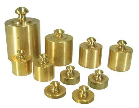 Picture of 10 pc. Brass Weight Set