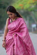 Load image into Gallery viewer, Office Wear Tussar Ghiccha Plain Saree