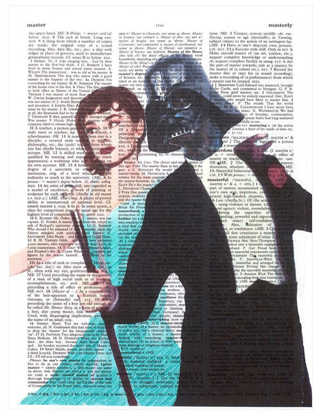 Art N Wordz Audrey Hepburn & Darth Vader Original Dictionary Sheet Pop Art Wall or Desk Art Print Poster