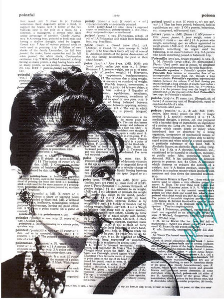 Art N Wordz Audrey Hepburn Smoking Original Dictionary Sheet Pop Art Wall or Desk Art Print Poster