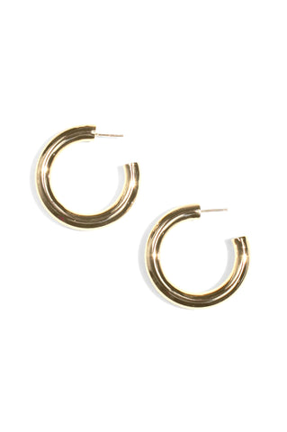 Dylan Hoop Earrings, Gold Plated