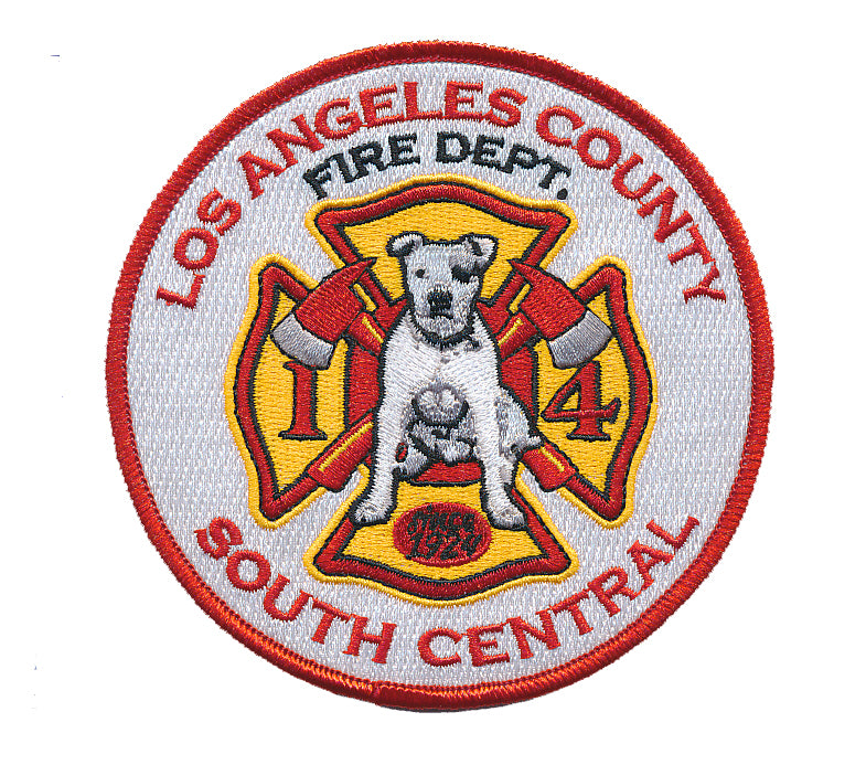 "LA County Station 14 ""South Central""  ROUND Patch"