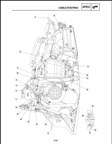 Full Service Manual for Yamaha Snowmobile RX1 Years 2003