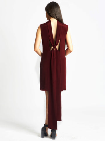 Back Loop Dress Wine