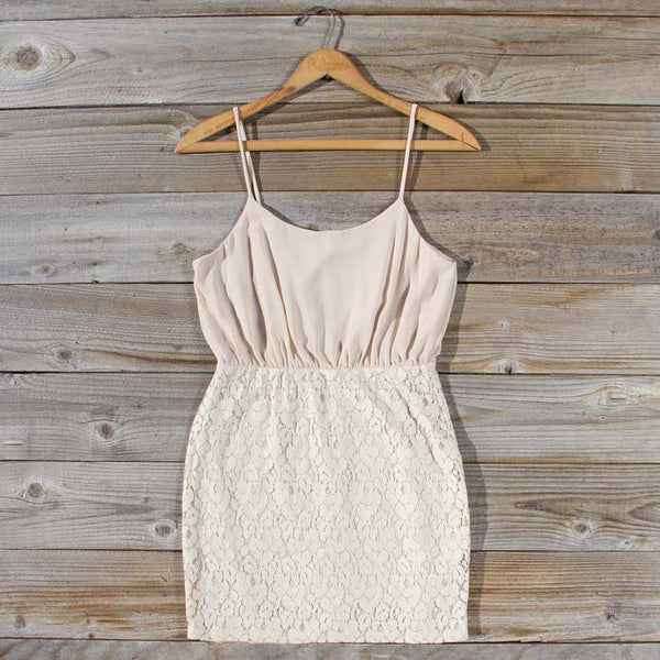 Midnight Lace Dress in Sand: Featured Product Image