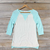 Cozy Camp Tee in Mint: Alternate View #1