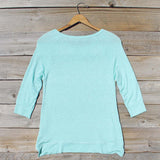 Cozy Camp Tee in Mint: Alternate View #4