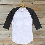Spool Basics Baseball Sleeve Tee: Alternate View #4
