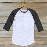 Spool Basics Baseball Sleeve Tee: Alternate View #1