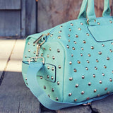 Studded Mint Duffle: Alternate View #2