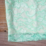 Beloved Lace Dress in Mint: Alternate View #3