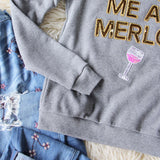 Bow & Drape Merlot Sweatshirt: Alternate View #3