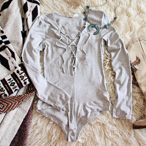 Dixon Cozy Bodysuit in Gray: Featured Product Image