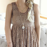 Dreamscape Dress in Taupe: Alternate View #3