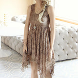 Dreamscape Dress in Taupe: Alternate View #1