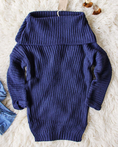 Gemma Knit Sweater in Navy: Featured Product Image
